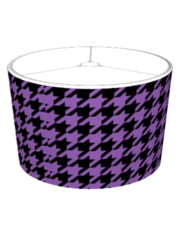 Purple Houndstooth Lampshade
