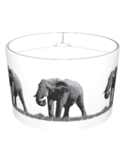 African Elephants Lampshade
