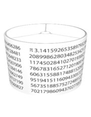 Pi Digits Lampshade