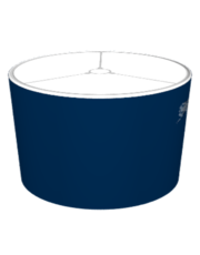 Dotted World Map Blue Lampshade