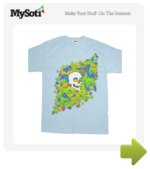 Skull Bloom tee by TeeBoneShirts. Available from MySoti.com.