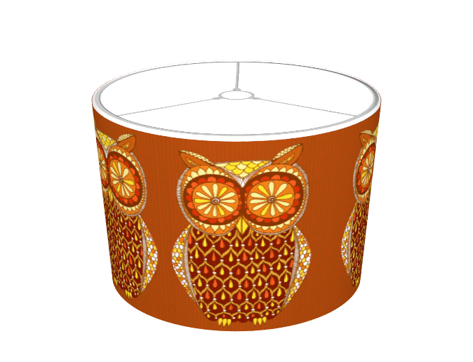 Groovy Owl Lampshade