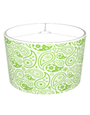 Custom Flower Paisley Shade (lime)