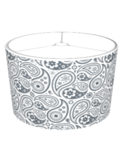 Custom Flower Paisley Shade (charcoal)