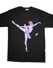 gas mask ballerina dub step tshirt