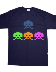 retro space invaders gamers tshirt