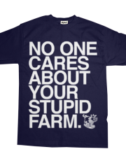 Your Stupid Farm | Hyphen Free | White Ink