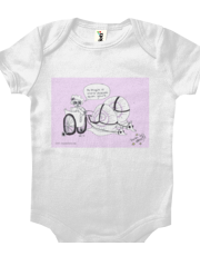 Obscure Bicycle onesie - lavendar