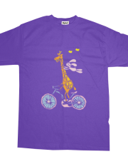 Giraffe and Bunny on a bike