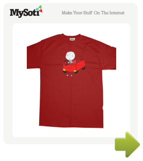 teru - red car tee by whya. Available from MySoti.com.