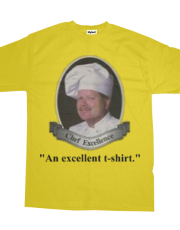 Chef exellence (no background) tee