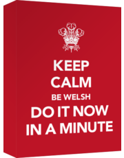 Keep Calm - Be Welsh - Do It Now In A Minute