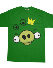 Angry Birds Shirt - Pig King - for Kids and Adult